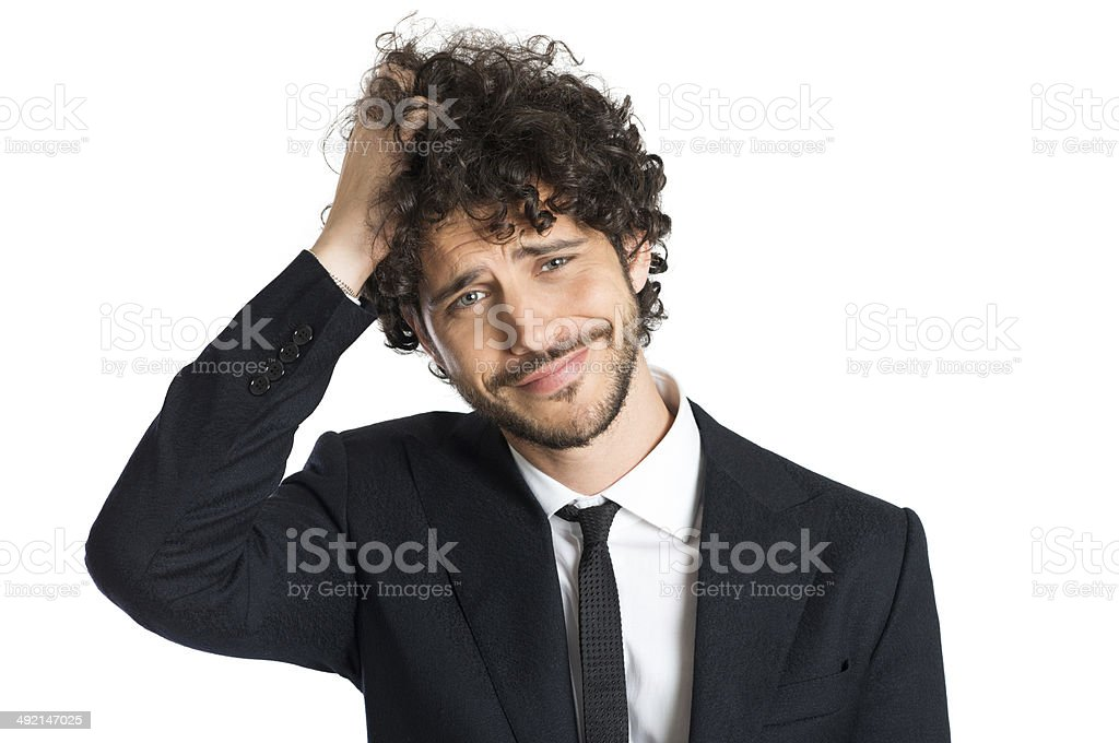 Young Disappointed Businessman stock photo