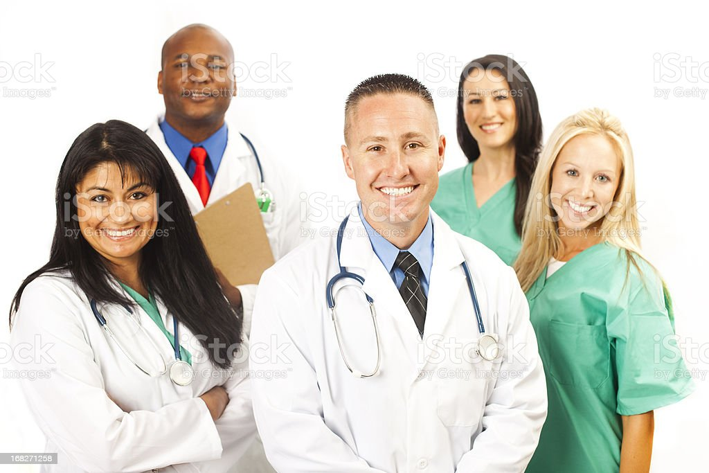 Young Diverse Professional Medical Team stock photo