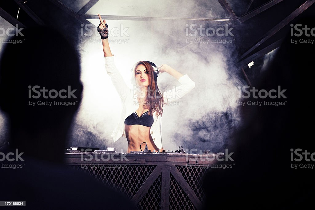 Young DJ royalty-free stock photo