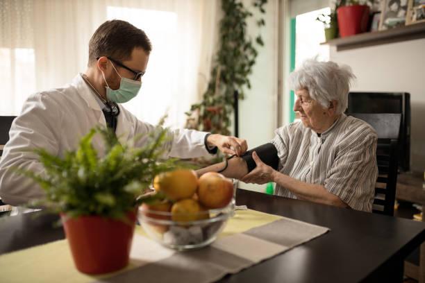 Young doctor adjusting blood pressure gauge on senior womans hand picture id1211350526?b=1&k=6&m=1211350526&s=612x612&w=0&h=x4t2om4of4ykhsp8mszfb4i0pr0w6zimbasg5nguwys=