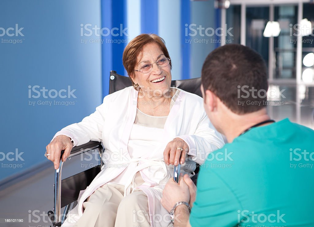 Young Doctor and Senior Patient royalty-free stock photo