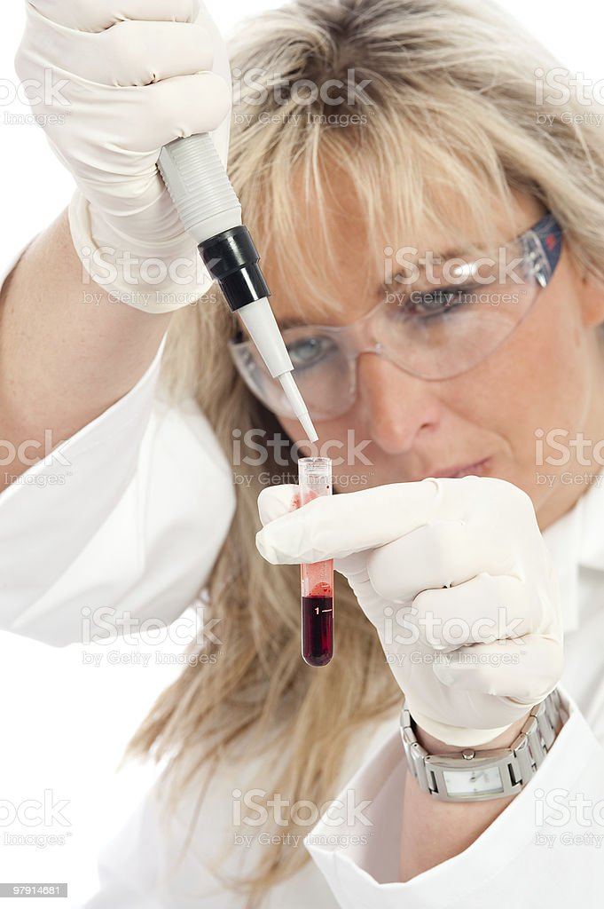 Young doctor with a blood sample royalty-free stock photo