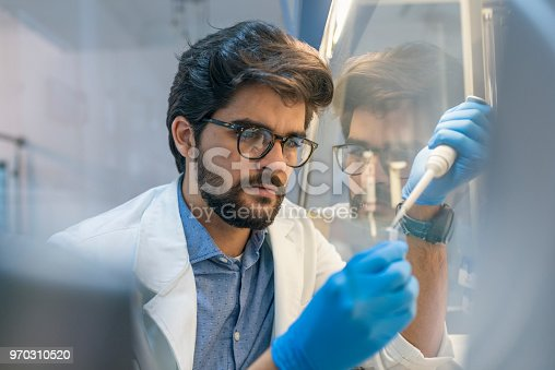 162264253 istock photo Young doctors in uniform working at testing laboratory 970310520