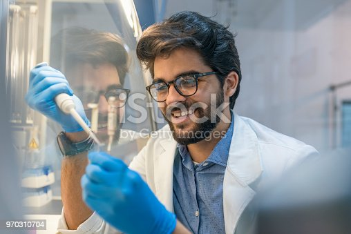 162264253 istock photo Young doctors in uniform working at testing laboratory 970310704