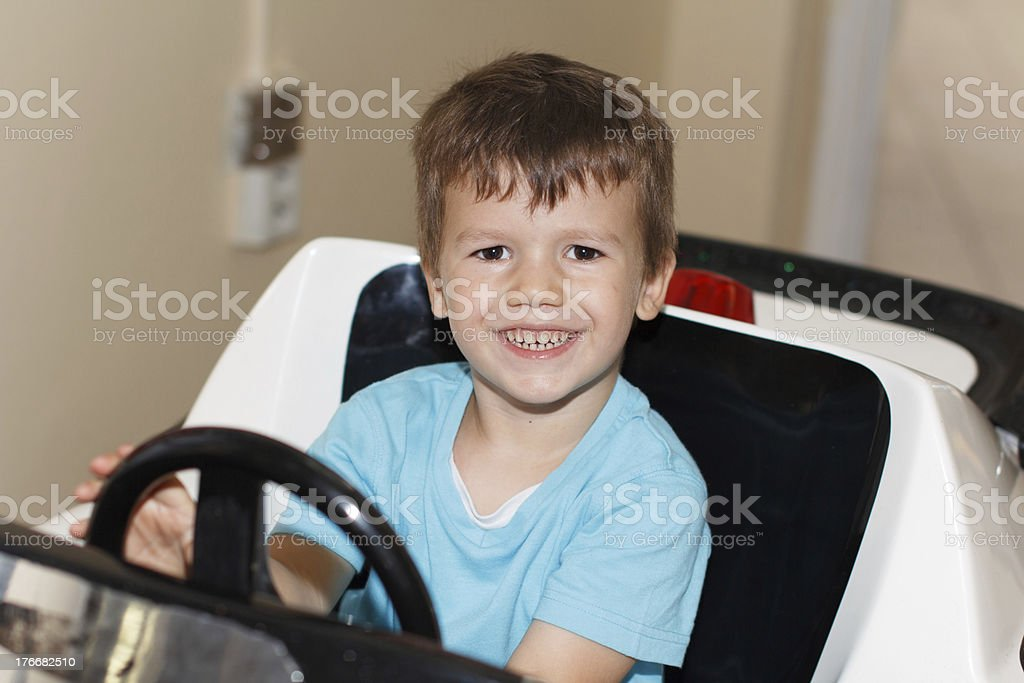 Young driver behind wheel royalty-free stock photo