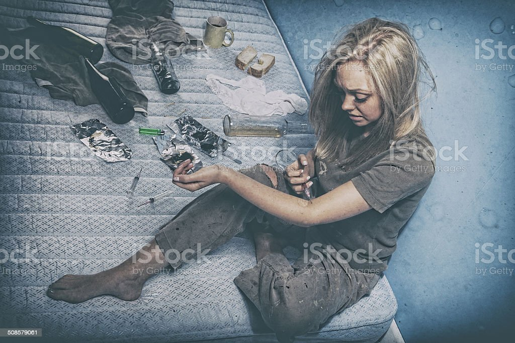 Young Drug Addict stock photo