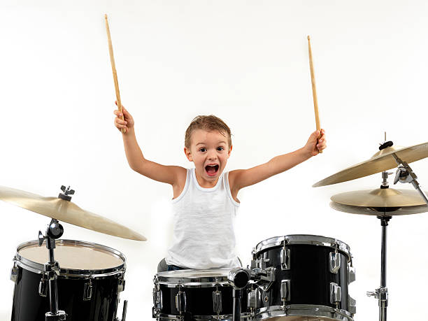 young drummer boy (3) stock photo