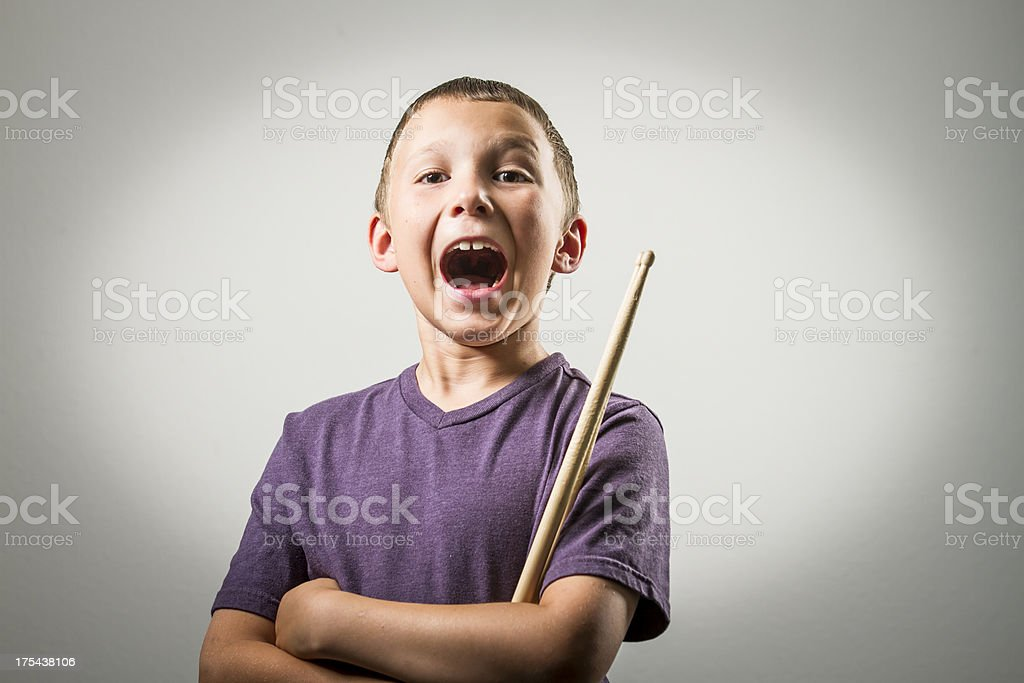 Young Drummer stock photo
