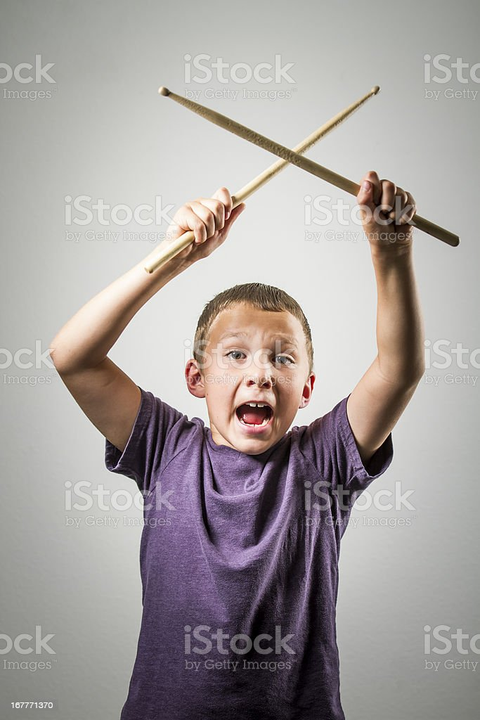 Young Drummer Series stock photo