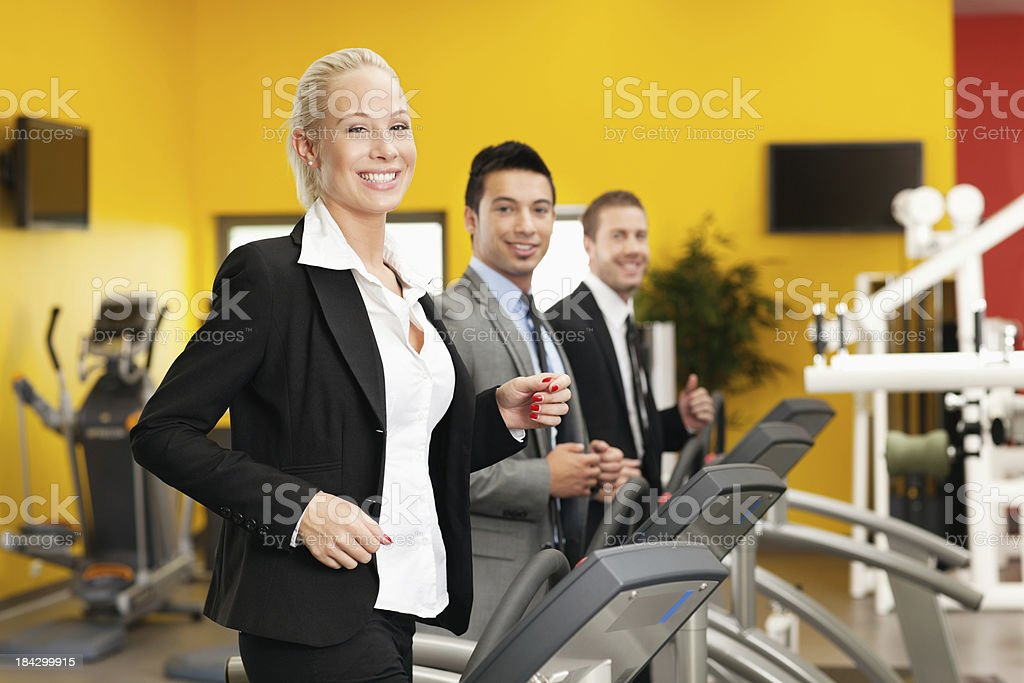 young dynamic business team on the move royalty-free stock photo