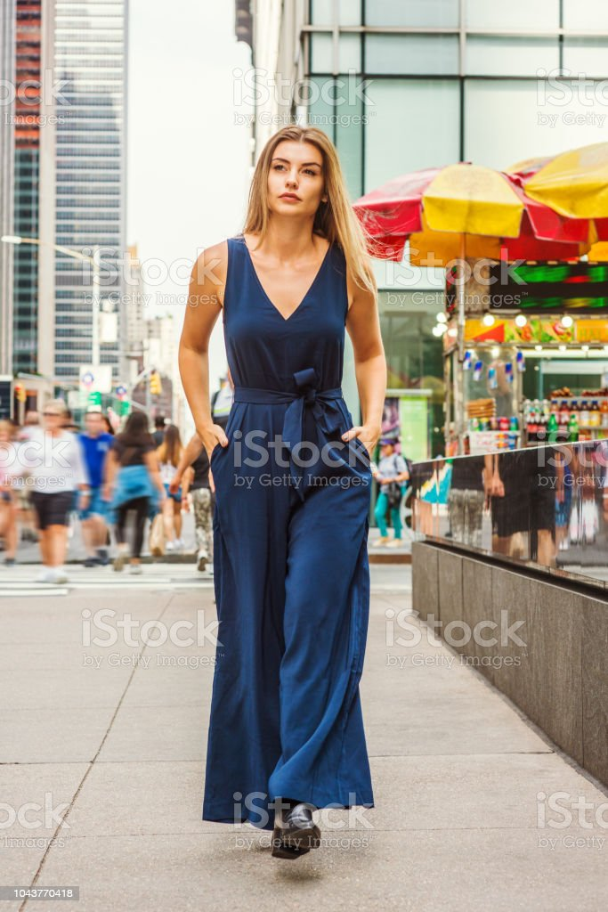 Young Eastern European Woman traveling in New York stock photo