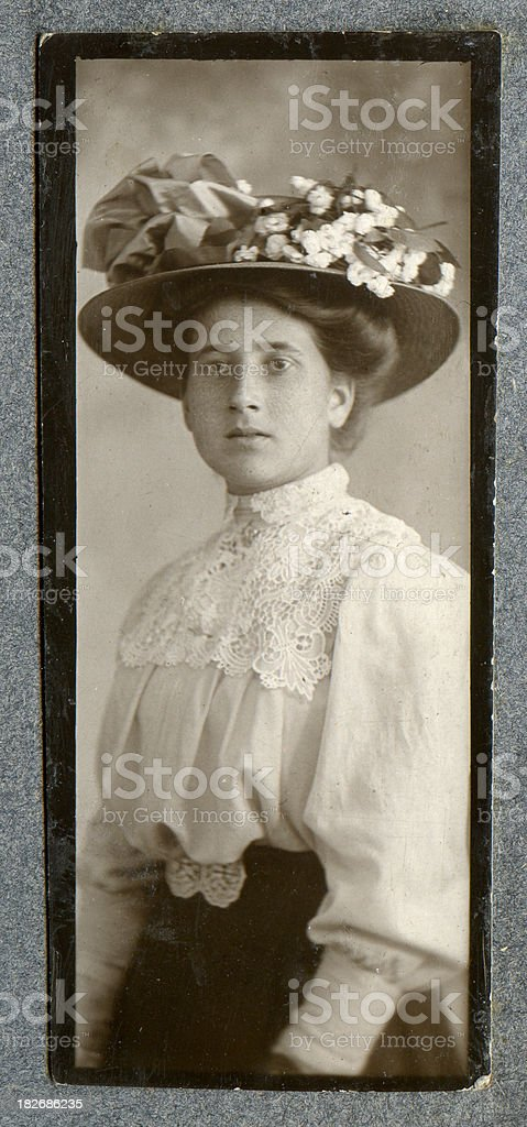 Young Edwardian Woman stock photo