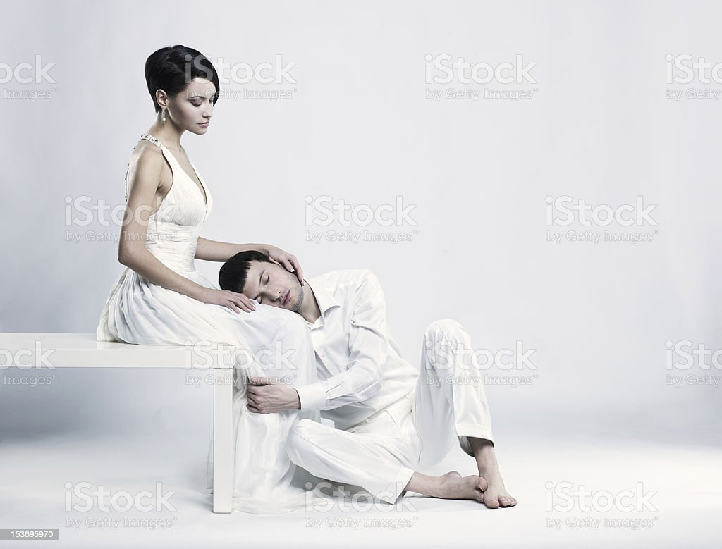 Young elegant couple royalty-free stock photo