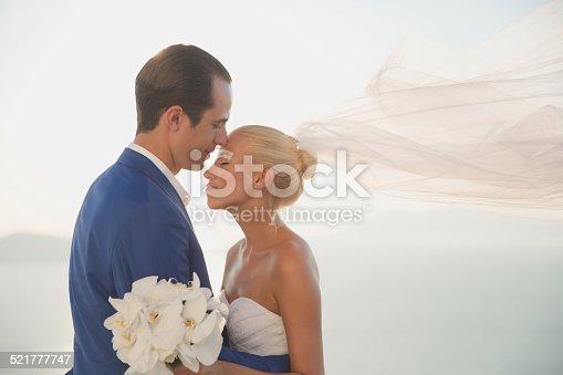 674214372istockphoto Young elegant wedding couple 521777747