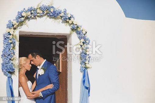 674214372istockphoto Young elegant wedding couple 521790069