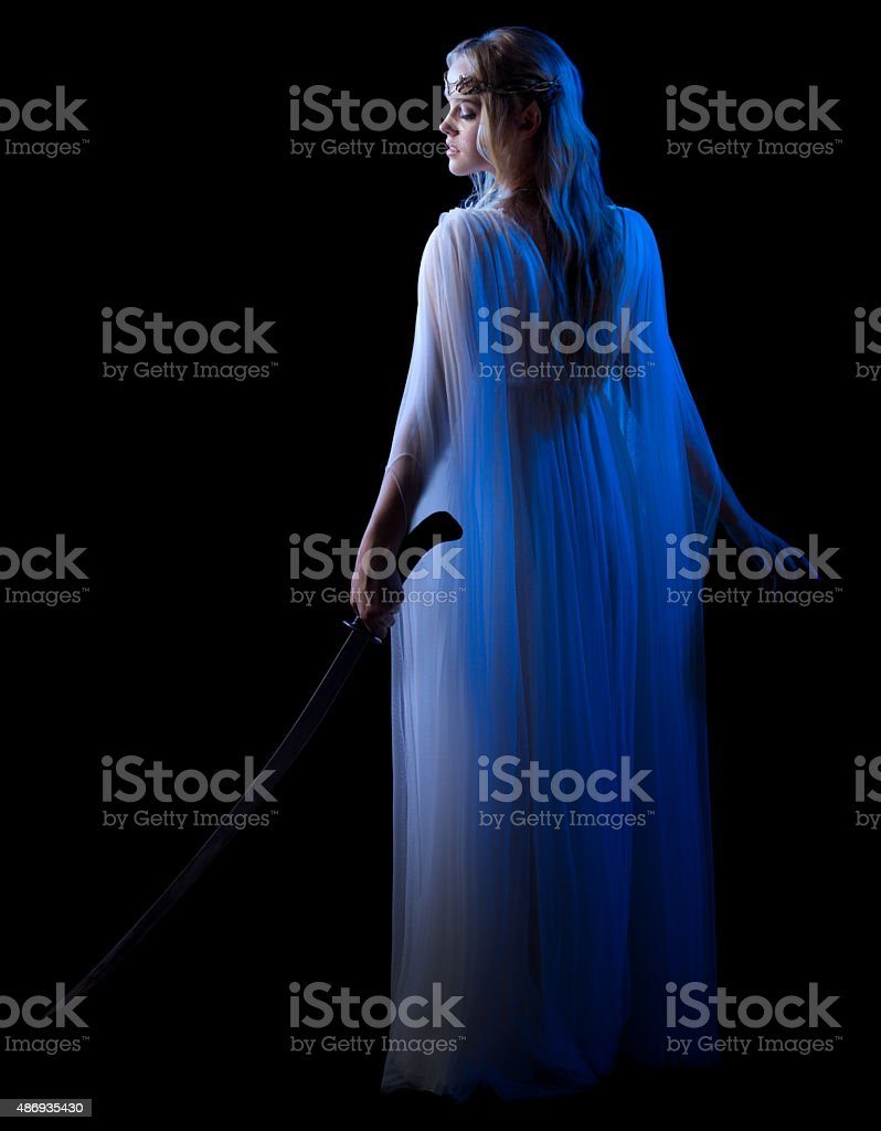 Young elven girl isolated stock photo