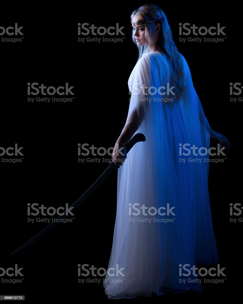 Young elven girl isolated royalty-free stock photo