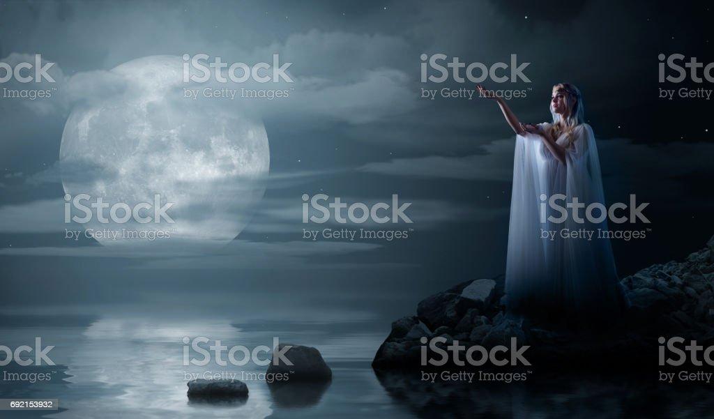 Young elven girl stock photo