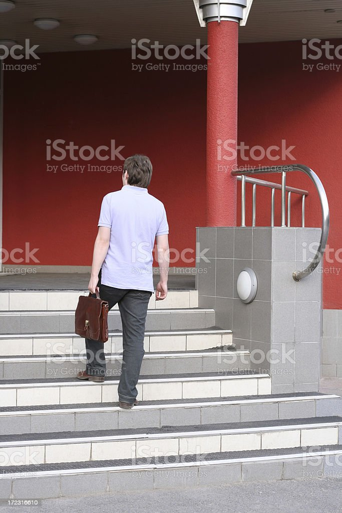 young employee stock photo