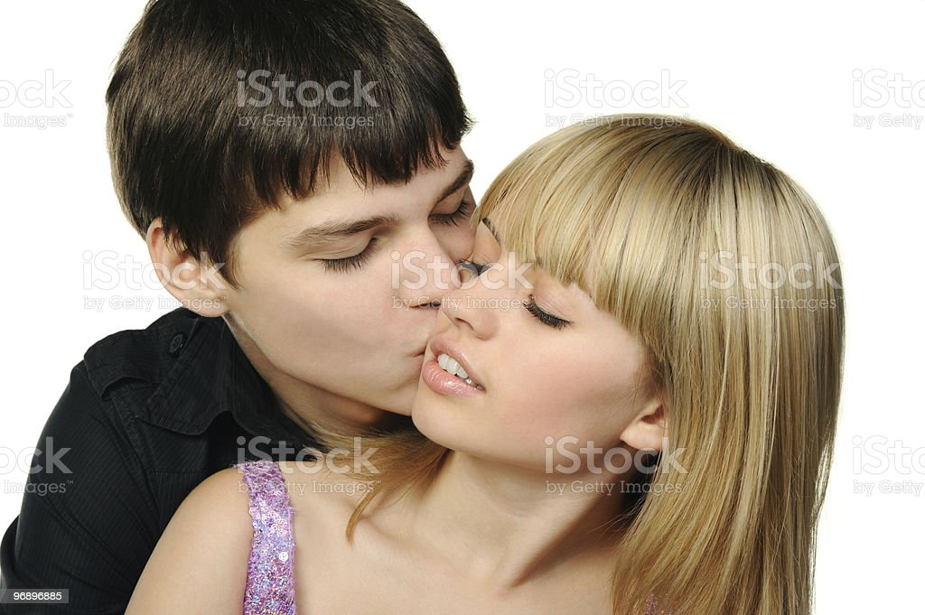 Young enamoured pair royalty-free stock photo
