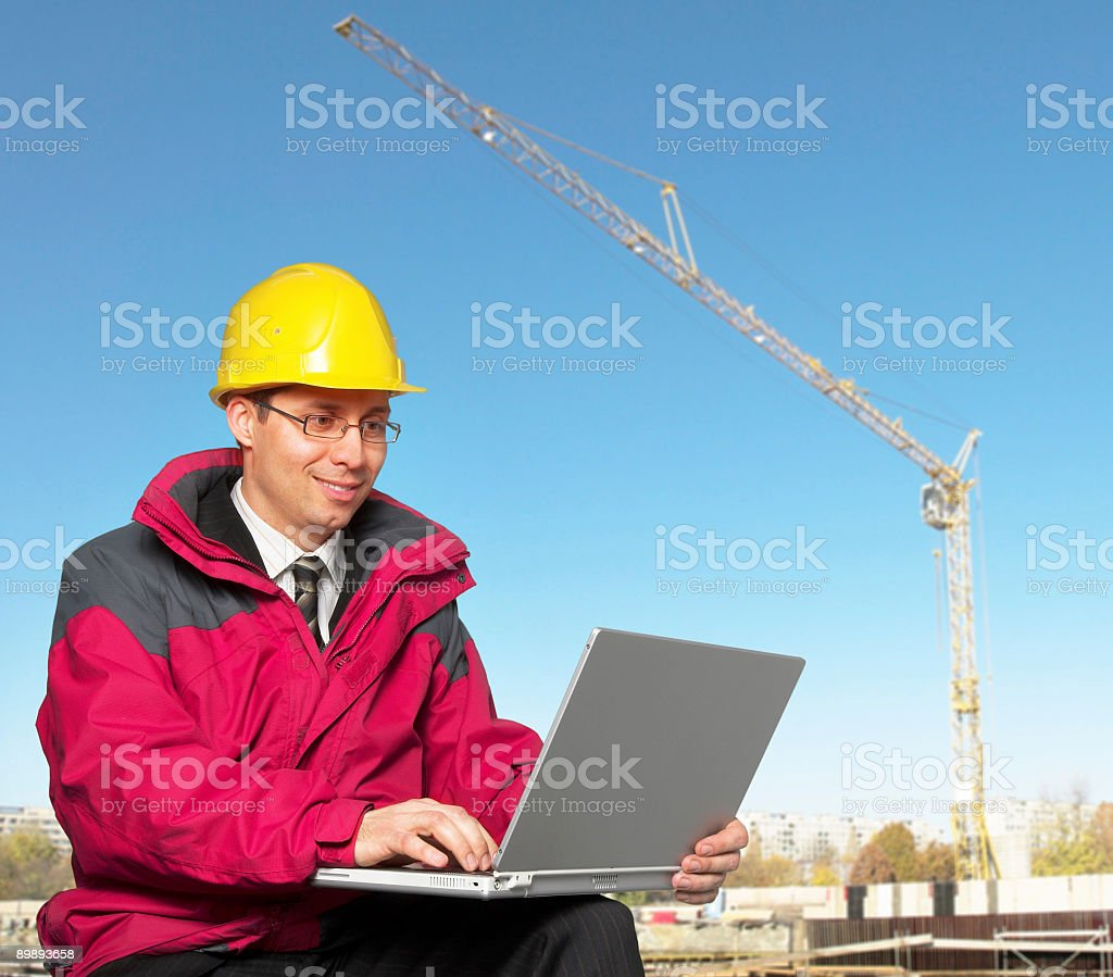 Young engeneer royalty-free stock photo
