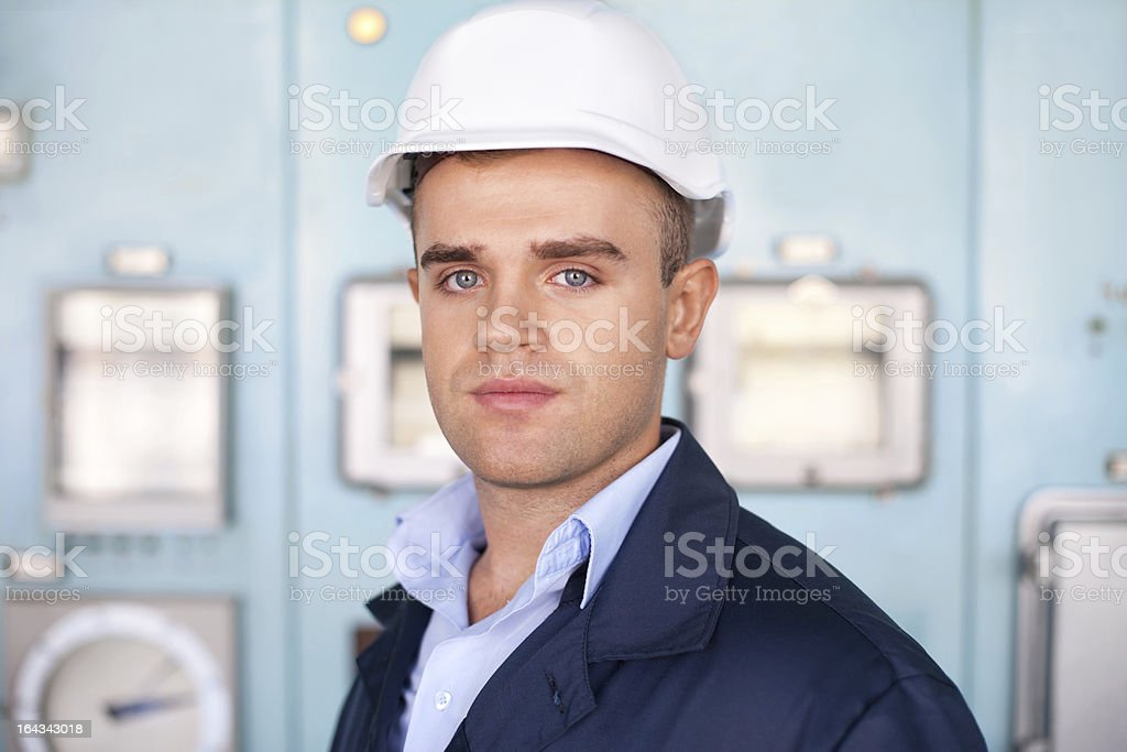 young engineer in control room royalty-free stock photo