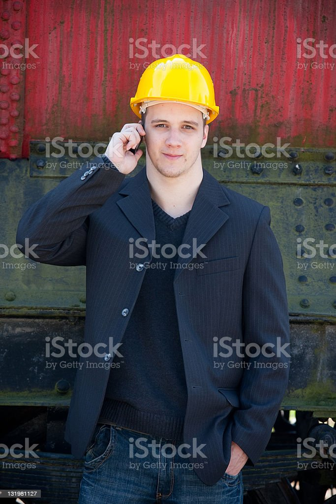 young engineer royalty-free stock photo