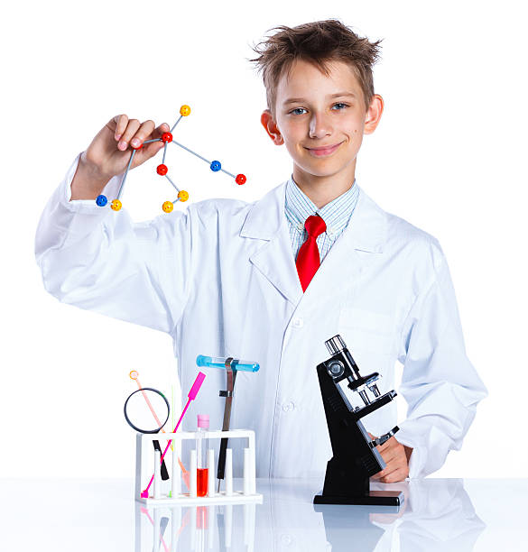 Young enthusiastic Chemist stock photo