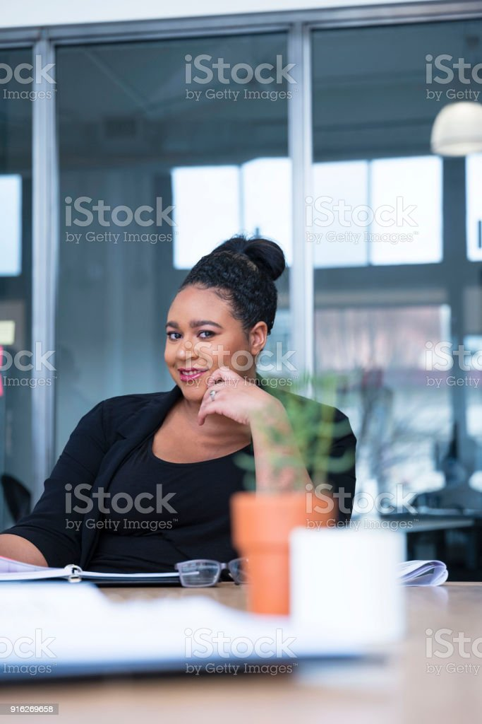 Young Ethnic Business woman stock photo