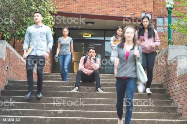 Young ethnic college student sits on steps after finding out his last picture id682820130?b=1&k=6&m=682820130&s=612x612&h=tktfzhljfiu0h5hils8ad6brnufmuvhyx5 t7hgidm0=