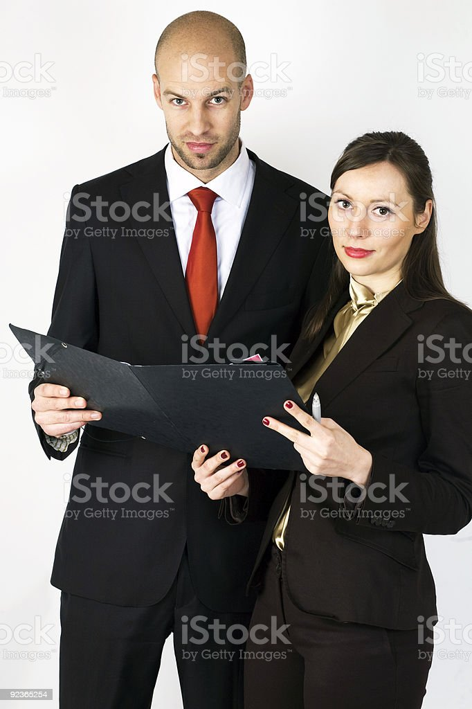 Young Executive with Assistent royalty-free stock photo