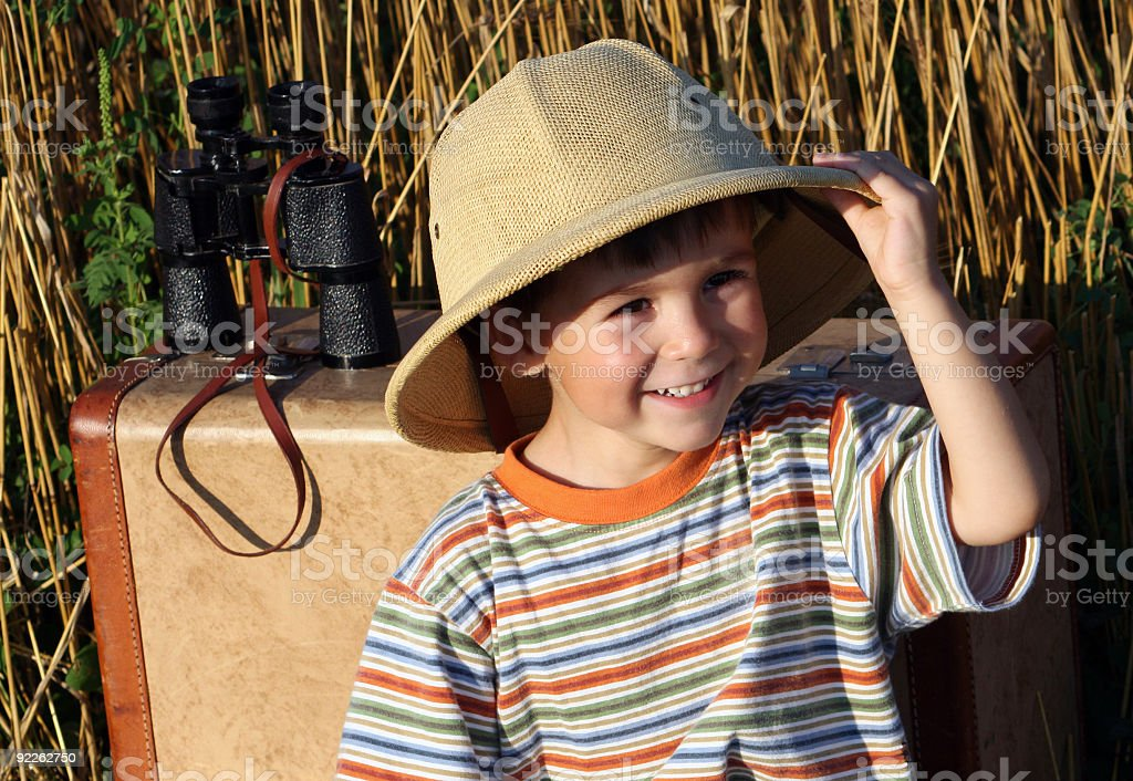 Young explorer royalty-free stock photo