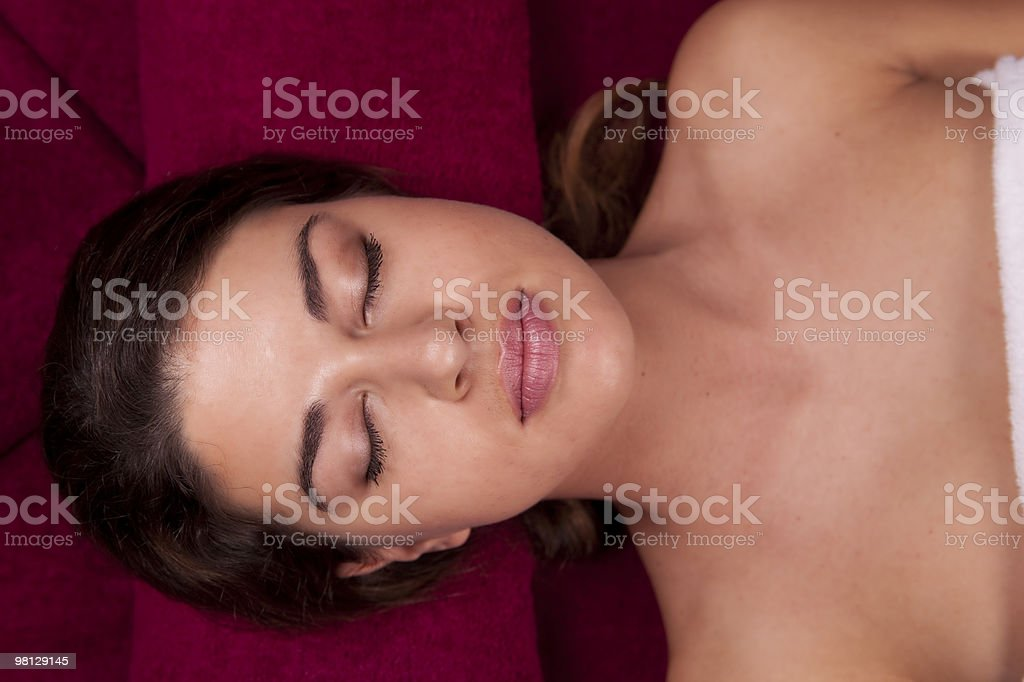 Young Face in the Spa royalty-free stock photo
