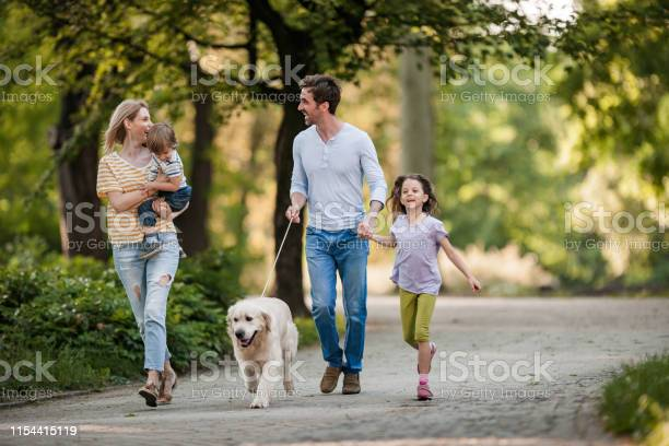 Young family and their golden retriever during spring day at the park picture id1154415119?b=1&k=6&m=1154415119&s=612x612&h=dabclibzmcq95xhloisjg2u3 x3s4ejrljnbwq0ly2m=