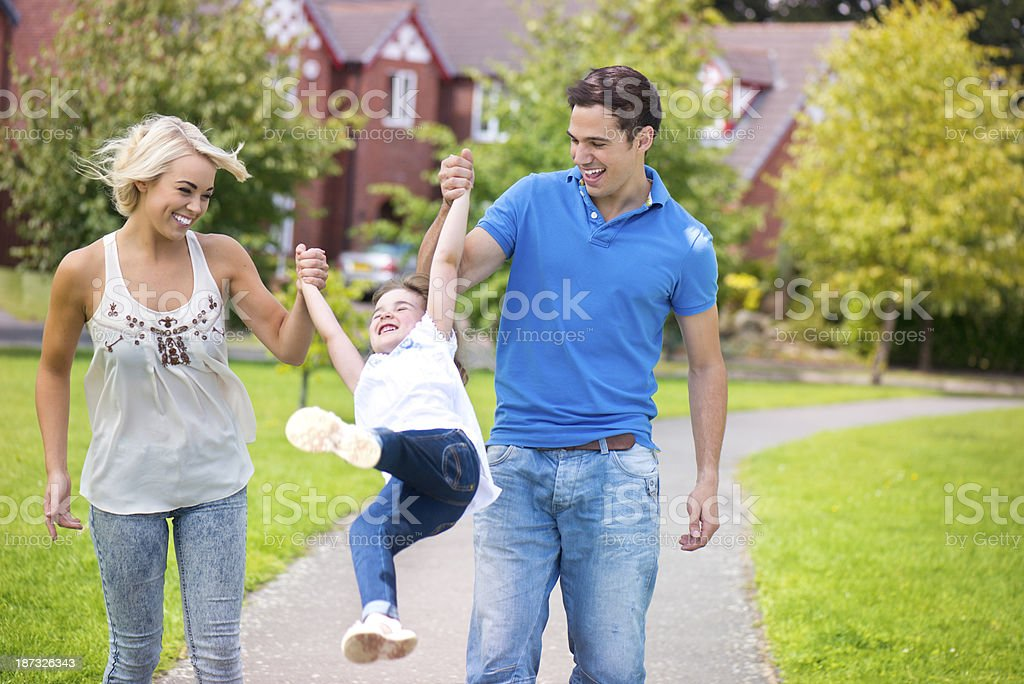 young family at play royalty-free stock photo
