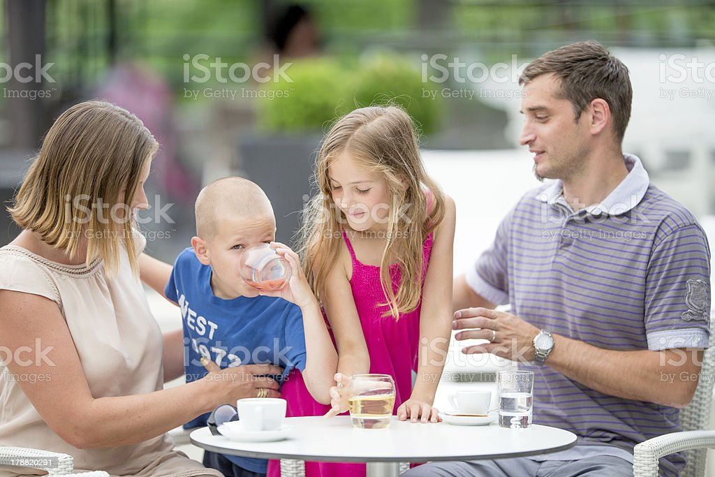 Young Family enjoying a day outdoors royalty-free stock photo