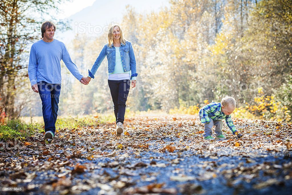 Young family having fun outdoors. royalty-free stock photo