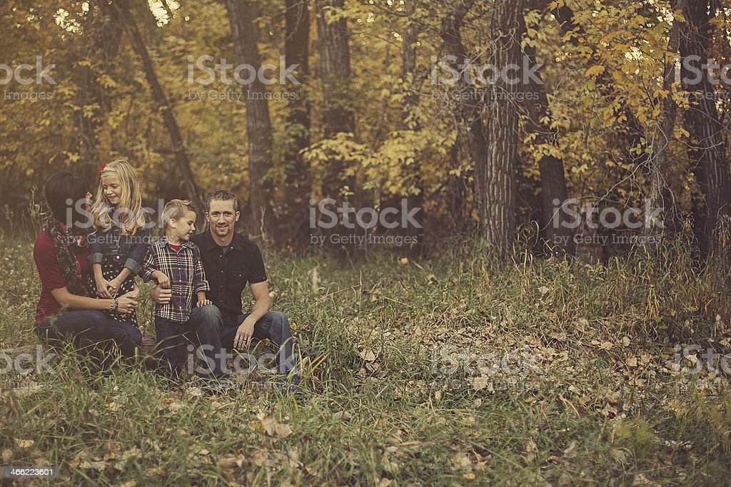 Young Family in the Park royalty-free stock photo