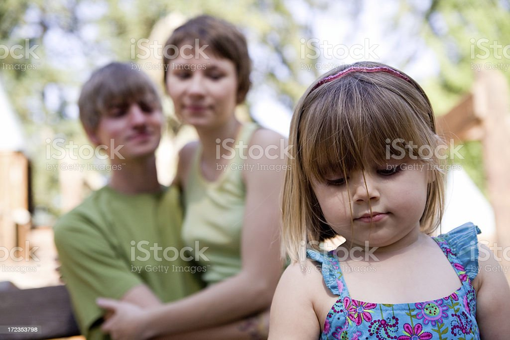 young family portrait royalty-free stock photo