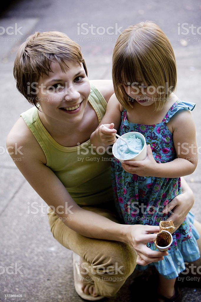 young family portrait stock photo