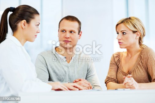 479964946istockphoto Young family visiting a psychologist 170039798