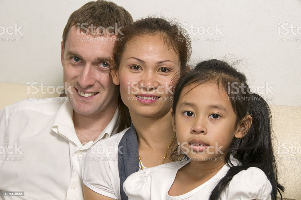 Young family with little girl royalty-free stock photo