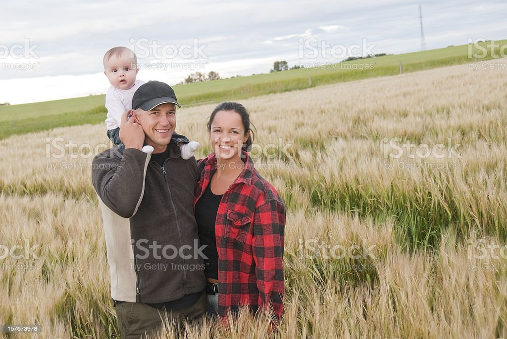 Young Farming Family stock photo