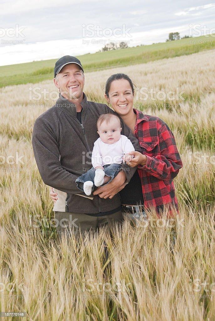 Junge Landwirtschaft Familie – Foto
