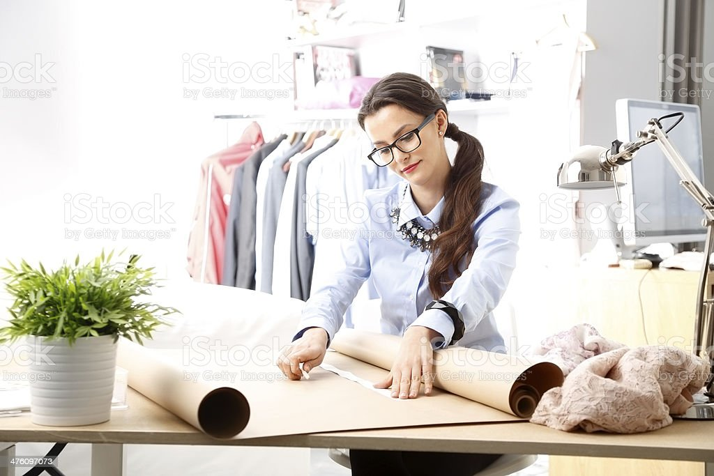 Young fashion designer stock photo