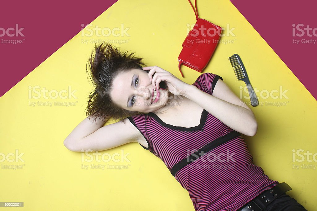 Young fashion girl royalty-free stock photo