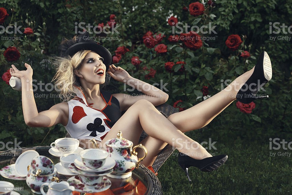 Young fashion woman royalty-free stock photo