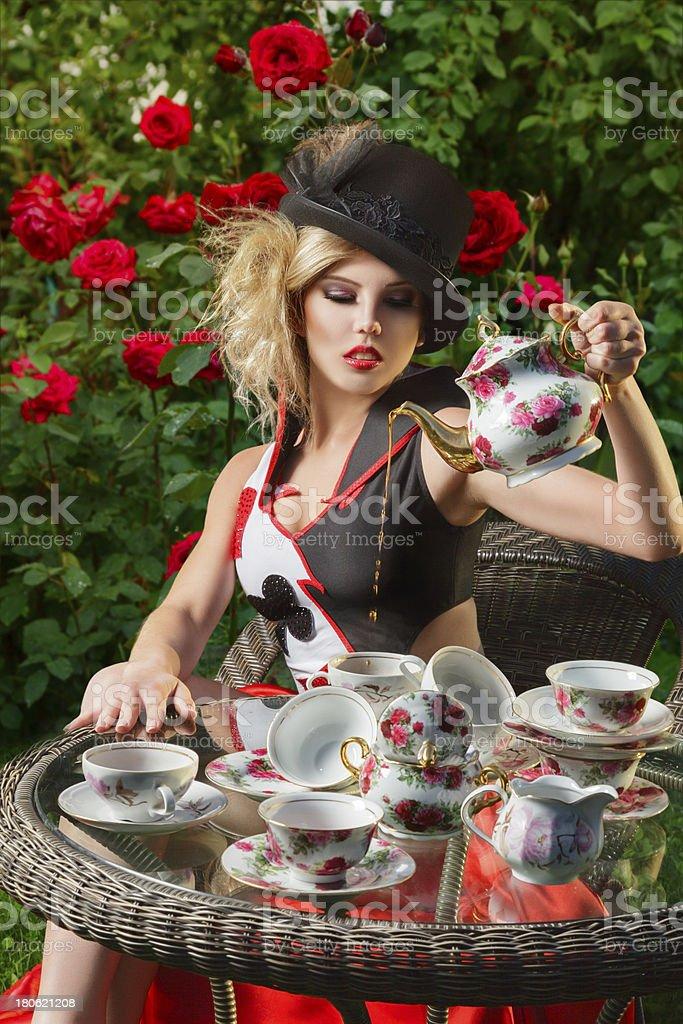 Young fashion woman stock photo