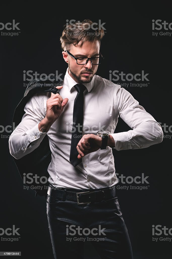 Young fashionable male stock photo