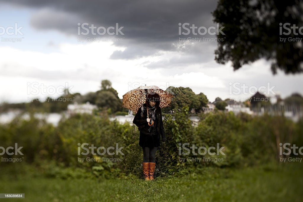 young fashionable woman outdoor royalty-free stock photo